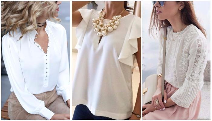 Ультрамодная вещь весенне-летнего сезона: 16 белых блузок без которых не обойтись