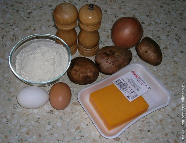 Вареники с сырно-картофельной начинкой