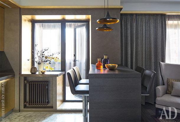 Золотая квартира в Москве, 40 м²