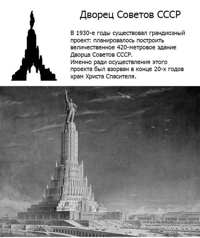 Дворец Советов СССР.