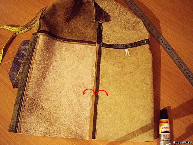 Самим сшить сумку из кожи 654