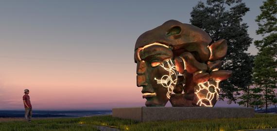 Уникальная восьмитонная скульптура Даши Намдакова навсегда приехала в Красноярск
