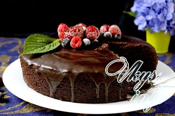 Шоколадный торт «На раз два три»