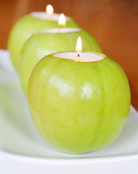 САМОДЕЛКИ. Подсвечники из...яблок