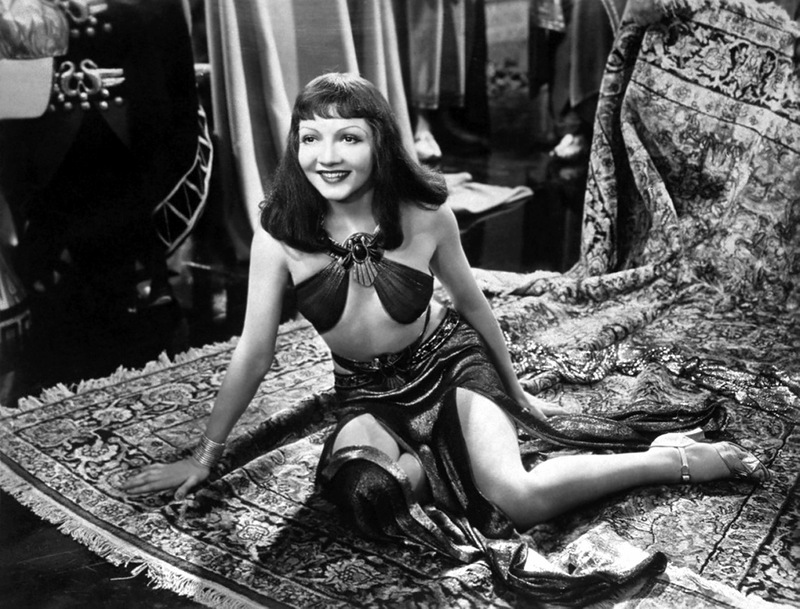 1934: Claudette Colbert in title role of Cecil B. DeMille's film Cleopatra.