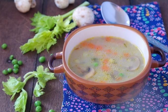 Перловый суп с говядиной