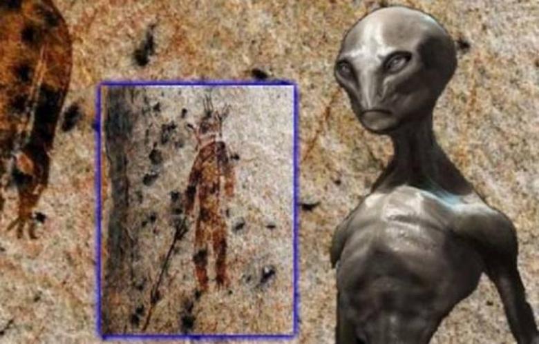 Наскальные рисунки - петроглифы доказывают контакты древних людей с пришельцами
