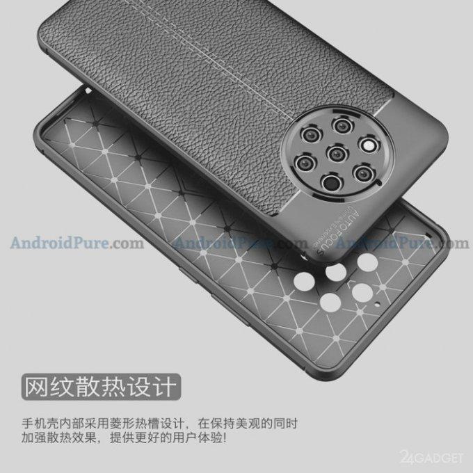 Смартфон Nokia 9 с круговой пентакамерой показали в чехле (5 фото)