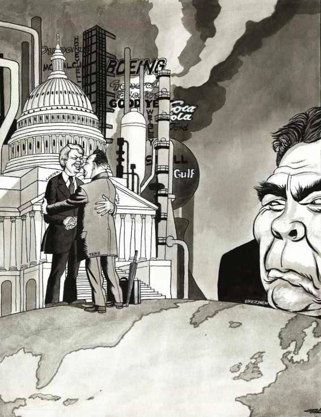 К огромному неудовольствию Брежнева Китай сближается в своих отношениях с Америкой (1979 год)