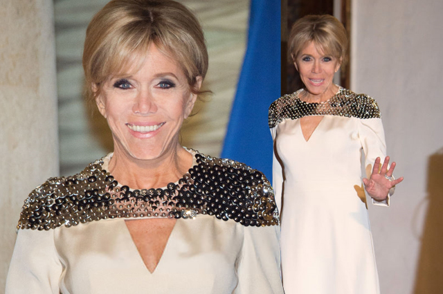 Наконец-то у супруги президента Франции пристойное платье