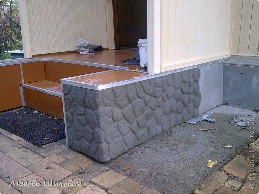 Мастер-класс Лепка Имитация природного камня на фундаменте  фото 4