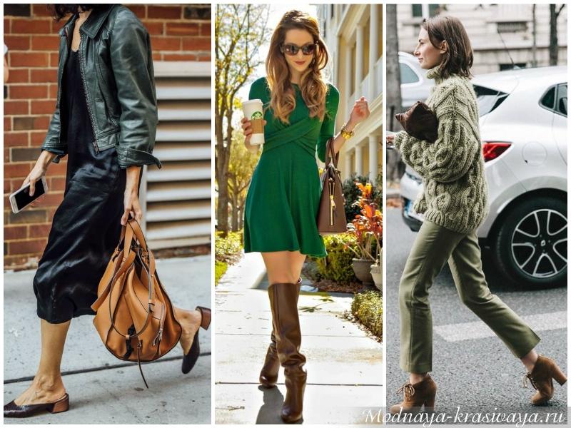 Зеленый и коричневый - природное сочетание