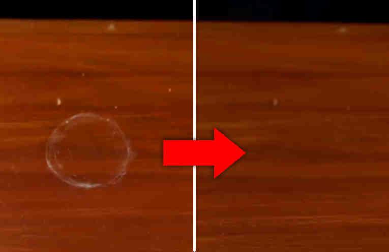 Как удалить пятно от воды с деревянной поверхности. Спасаем мебель