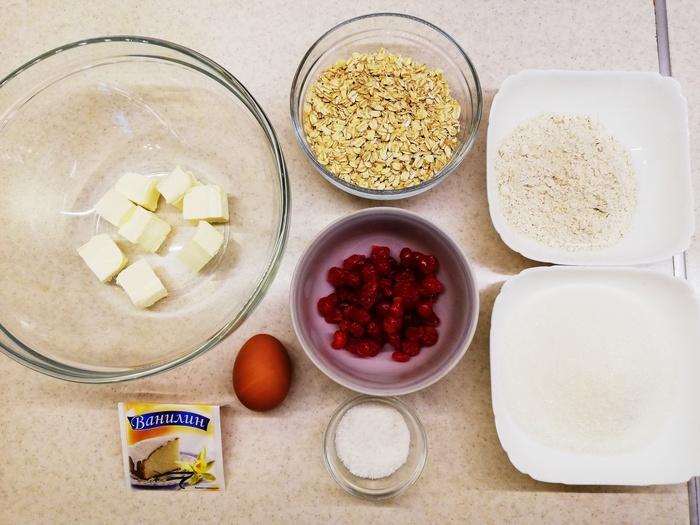 Овсяные печенья с сушёной вишней Еда, Рецепт, Кулинария, Печенье, Вкусно, Выпечка, Вкусняшки, Видео, Длиннопост