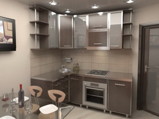 Кухня 5 кв м дизайн в фотографиях