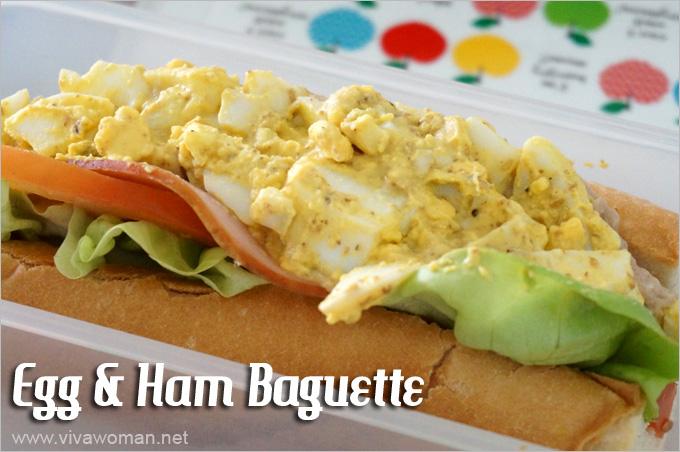 Egg Ham Baguette Lunchbox Idea Beauty Lunchbox Ideas: 5 Easy Sandwich Recipes