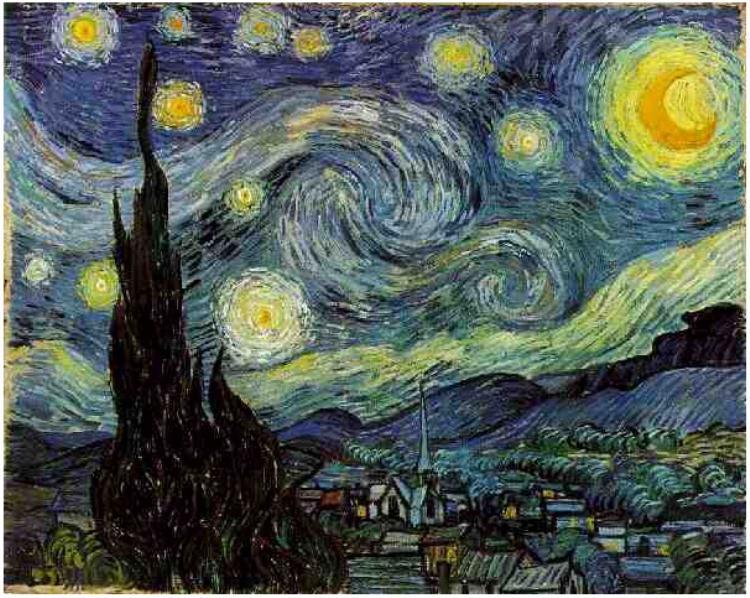 "Картина Винсента Ван Гога ""Звездная ночь"" (Starry Night)"