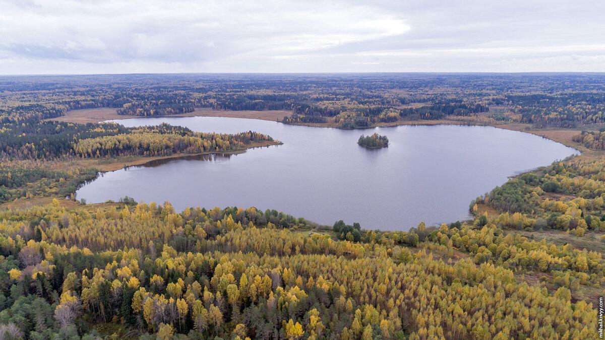 1. Озеро Моисеевское. Берега болотистые, недалеко от озера три деревни.