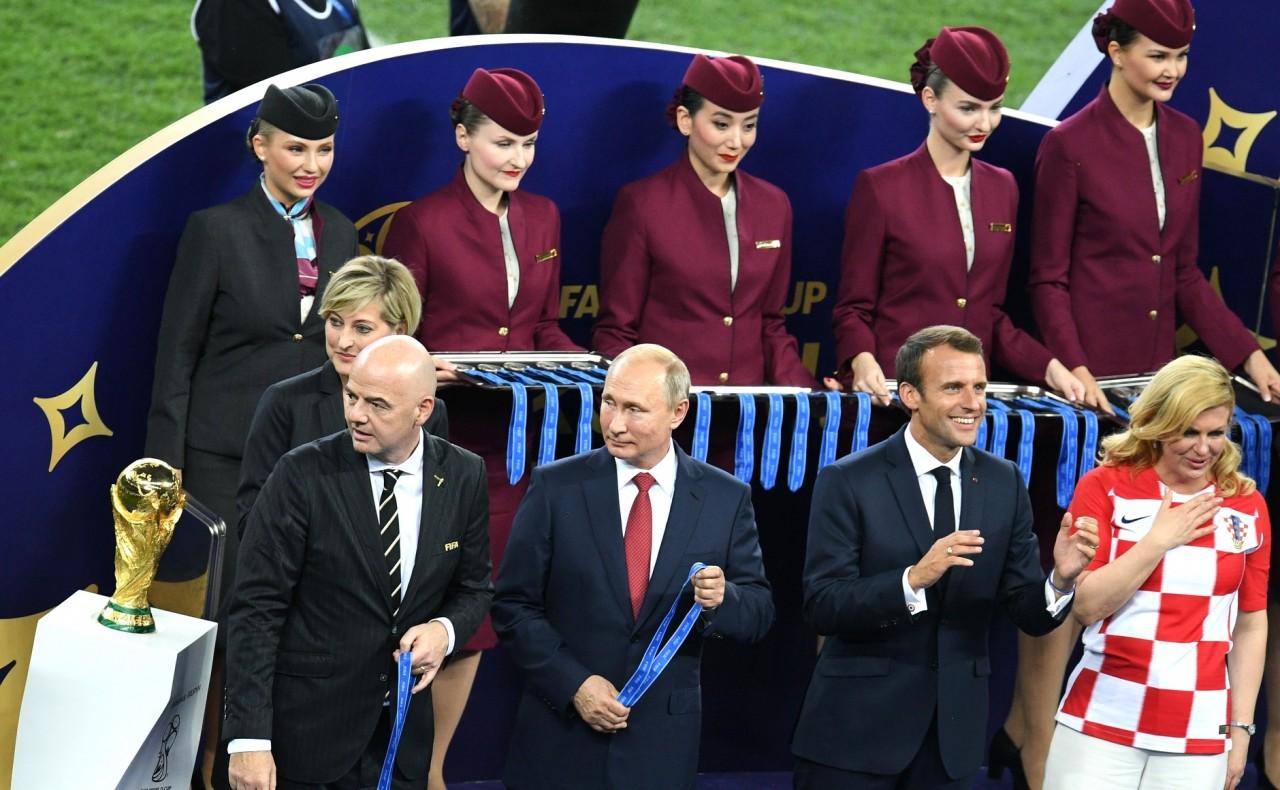 Владимир Путин посетил финальный матч чемпионата мира по футболу 2018 года