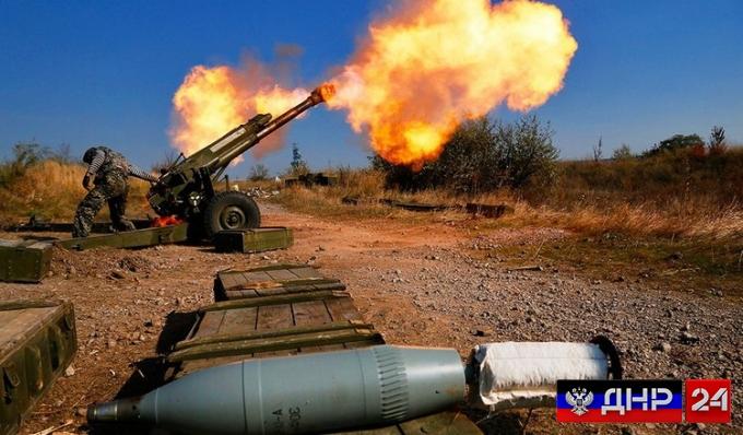 Пригород Донецка подвергся мощным ударам (ВИДЕО)