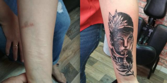 После сеанса уходят другими: татуировщик из Уфы рисует на шрамах жертв домашнего насилия