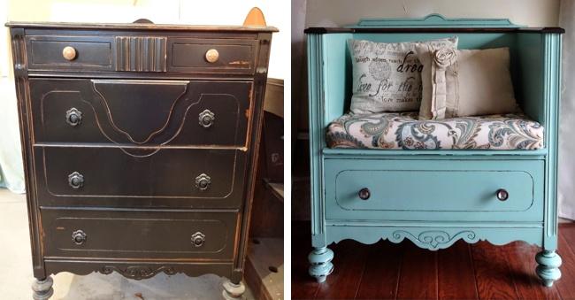 15 крутых идей для переделки старой мебели