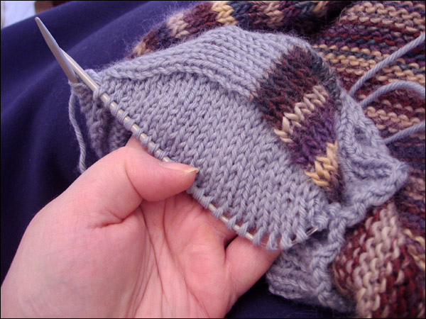 Вязание спицами рукав сверху от плеча 86