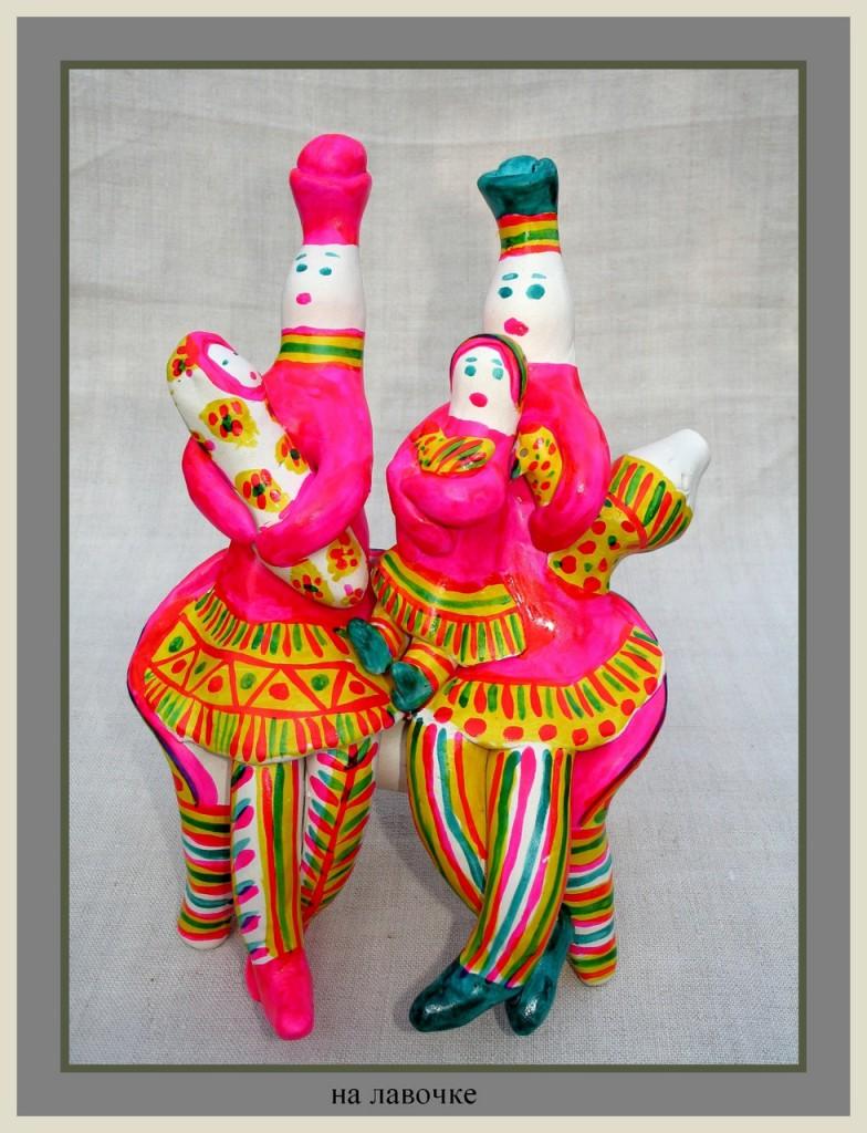 Красивые тульские филимоновские фигурки из глины - фото