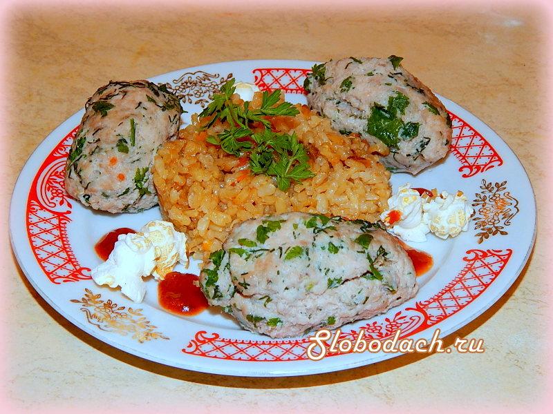 Зразы куриные с рисом