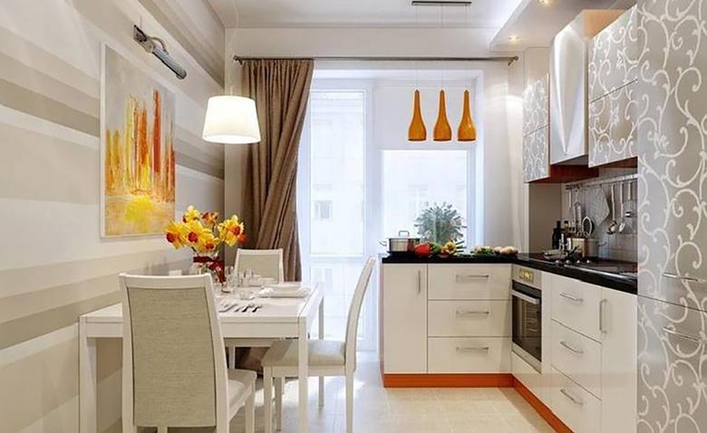 35 кв. м c небольшой кухней со столовой