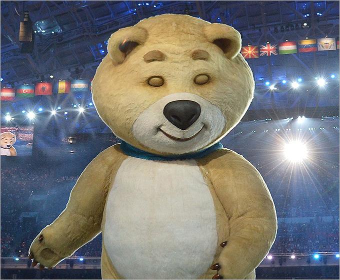 Один из трёх талисманов Олимпиады