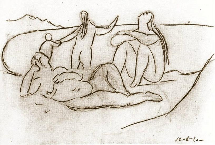 Пабло Пикассо. Купальщицы  и дети. 1920 год