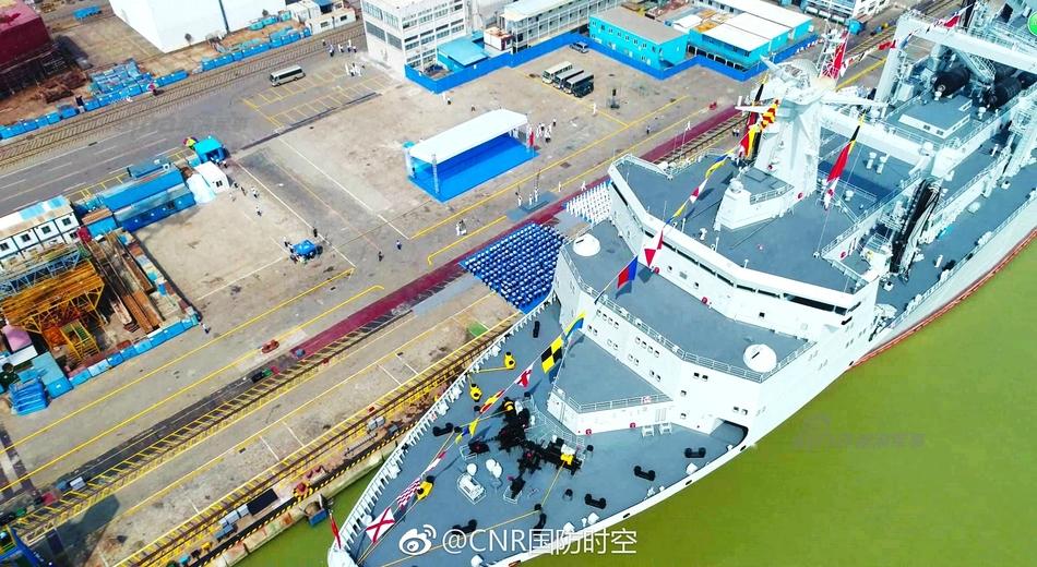 Первый китайский океанский корабль комплексного снабжения проекта 901  принят в состав ВМС НОАК