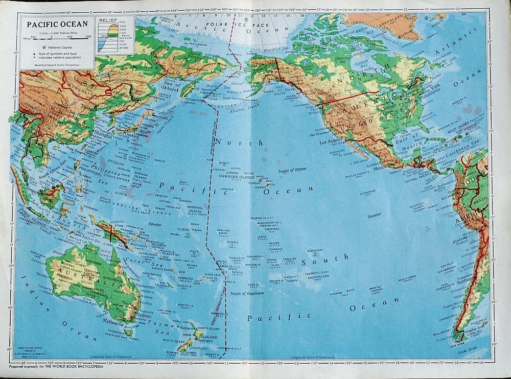 GEO. Моря и океаны - полный список с указанием площади ...