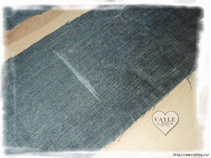 Как сшить жилет из старых джинсов (10) (700x525, 350Kb)