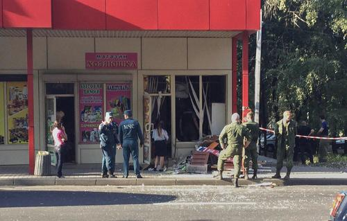 В Донецке прогремел взрыв в булочной рядом  с остановкой