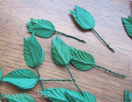 Как сделать листок к розе