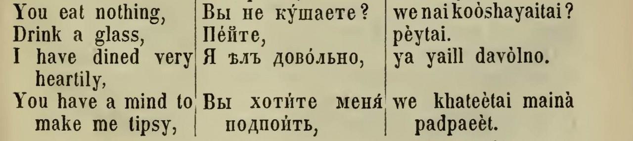 7 ключевых диалогов из англо-русского разговорника XIX века