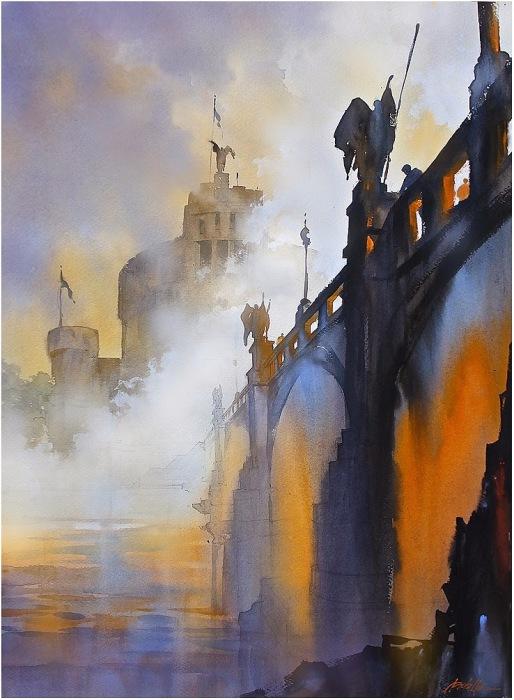 Картины, пропитанные светом, меланхолией и теплом — акварельные пейзажи Томаса  Шаллера