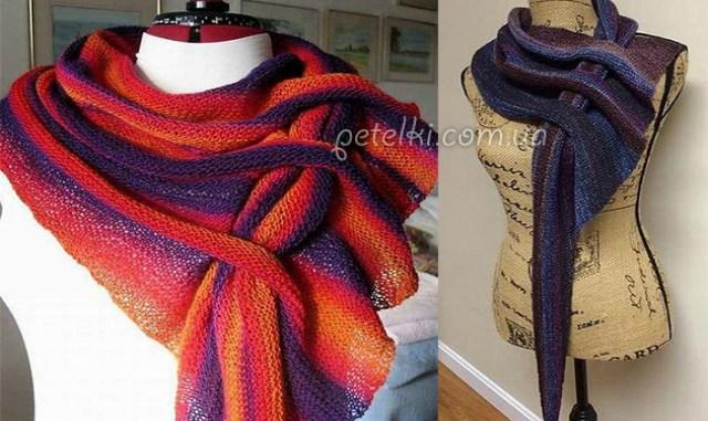 Норвежский треугольный шарф — бактус: схемы и подробности вязания