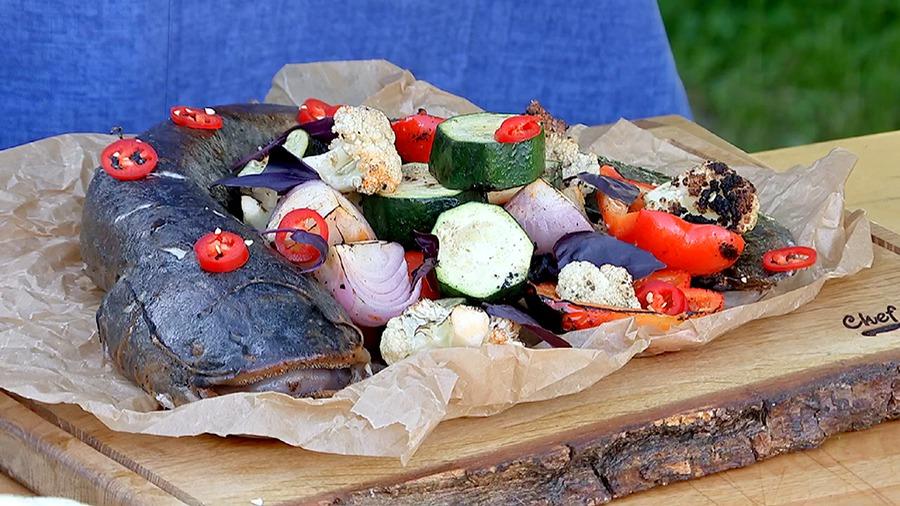 """Шашлык из рыбы в сладком соусе чили """"Нежный чилиец"""""""