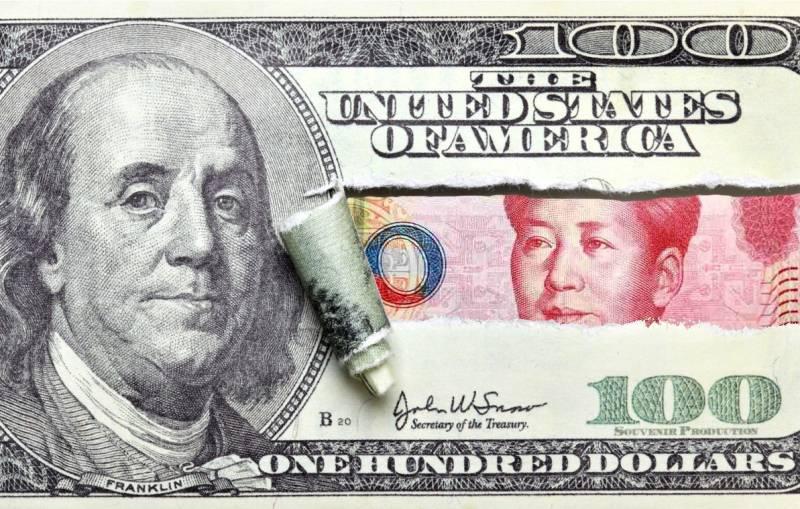 Китай сбросил американский г…