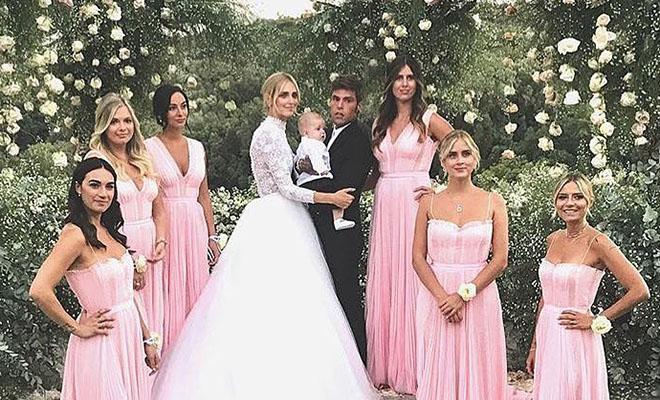 Кьяра Ферраньи вышла замуж за рэпера Федерико Лючия: фото с церемонии, платье невесты и другие подробности