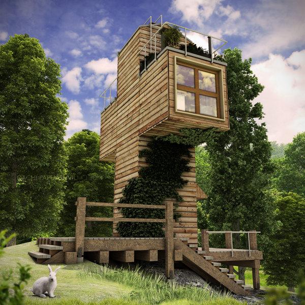 «Скит» — уникальный крестообразный микро-дом от грузинского архитектора