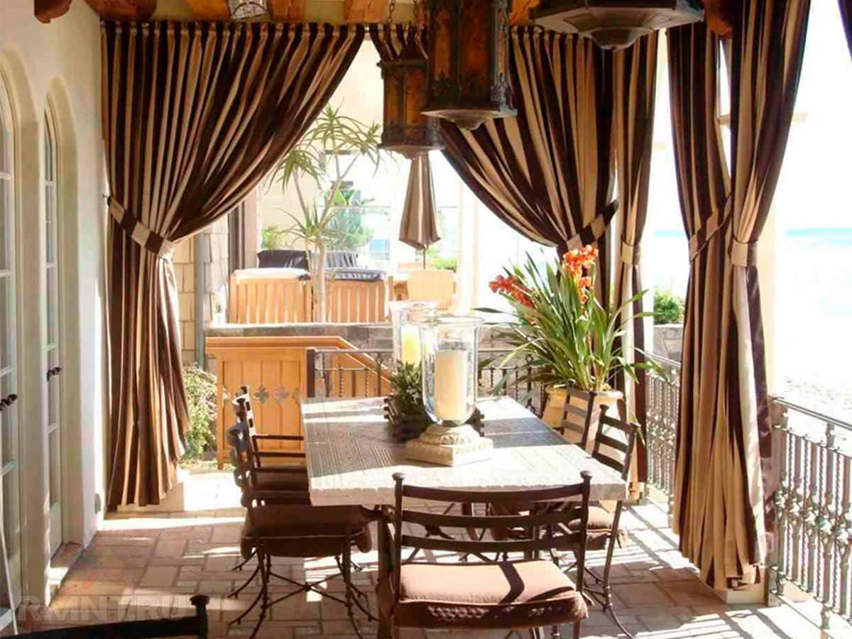 Дизайн штор для террасы