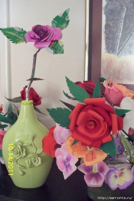 Розы и бабочки из алюминиевых баночек. Мастер-класс (14) (465x700, 228Kb)
