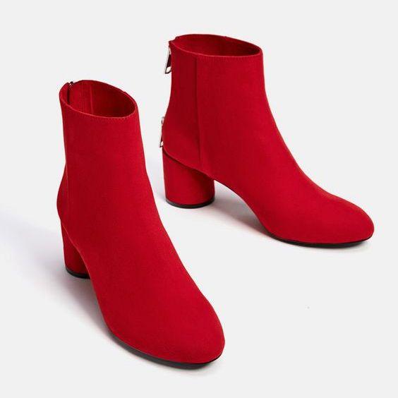 Модный ориентир: Красные ботинки