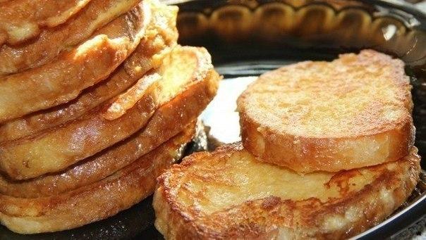 Аппетитные сырные гренкик завтраку. Быстро и сытно!