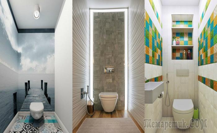 Обман зрения: 20 шикарных примеров того, как визуально увеличить маленький туалет