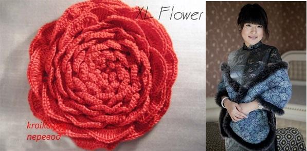 Шикарная роза крючком + идеи использования